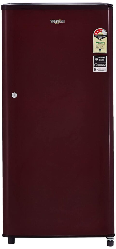 whirlpool 190L, single door fridge, fridge, refrigerator, fridge under 15000, single door refrigerator